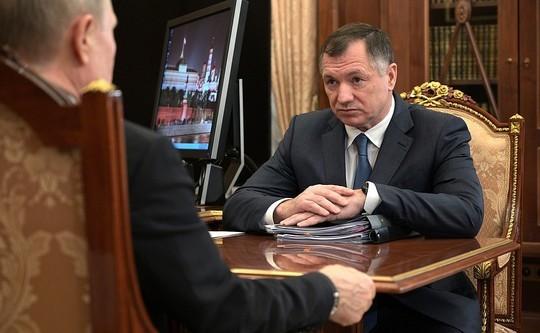 Путин принял в Кремле Хуснуллина: «Приступили уже в полном объеме к работе?»