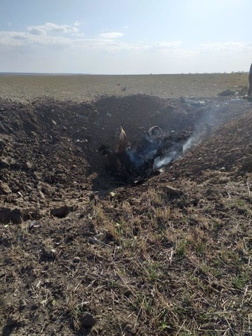 Появилось фото обломков разбившегося на Ставрополье Су-25