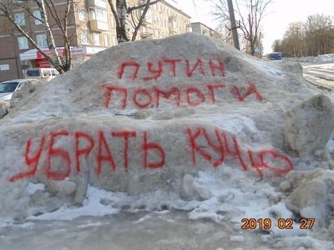 В Карелии депутат написал на сугробе обращение к Путину: теперь им интересуется полиция