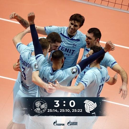Казанский «Зенит» разгромил бельгийский «Греньярд» в Лиге чемпионов