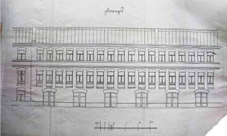 архивный документ 1912г Надстройка 3-го этажа. Фасад_460.jpg