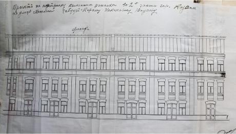 архивный документ 1912г Надстройка 3-го этажа. Фасад_1_460.jp