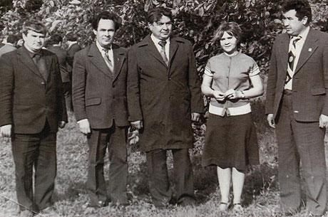Слева направо второй - министр мелиорации и водного хозяйства Минтимер Шайм