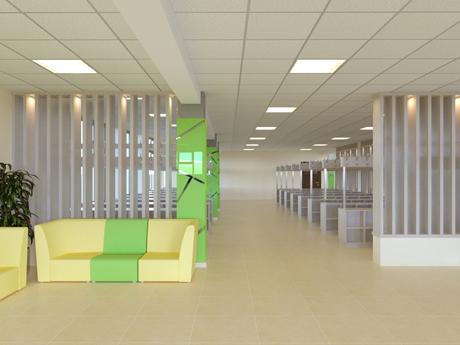 Дизайн интерьера школьной рекреации