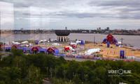 Территорию вокруг центра семьи «Казан» подготовили для проведения фестиваля болельщиков