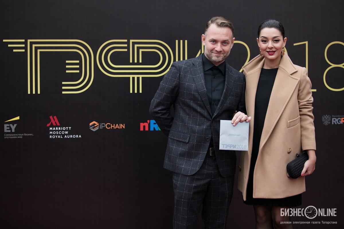 Продюсер Алексей Зюзин и Марина Кравец