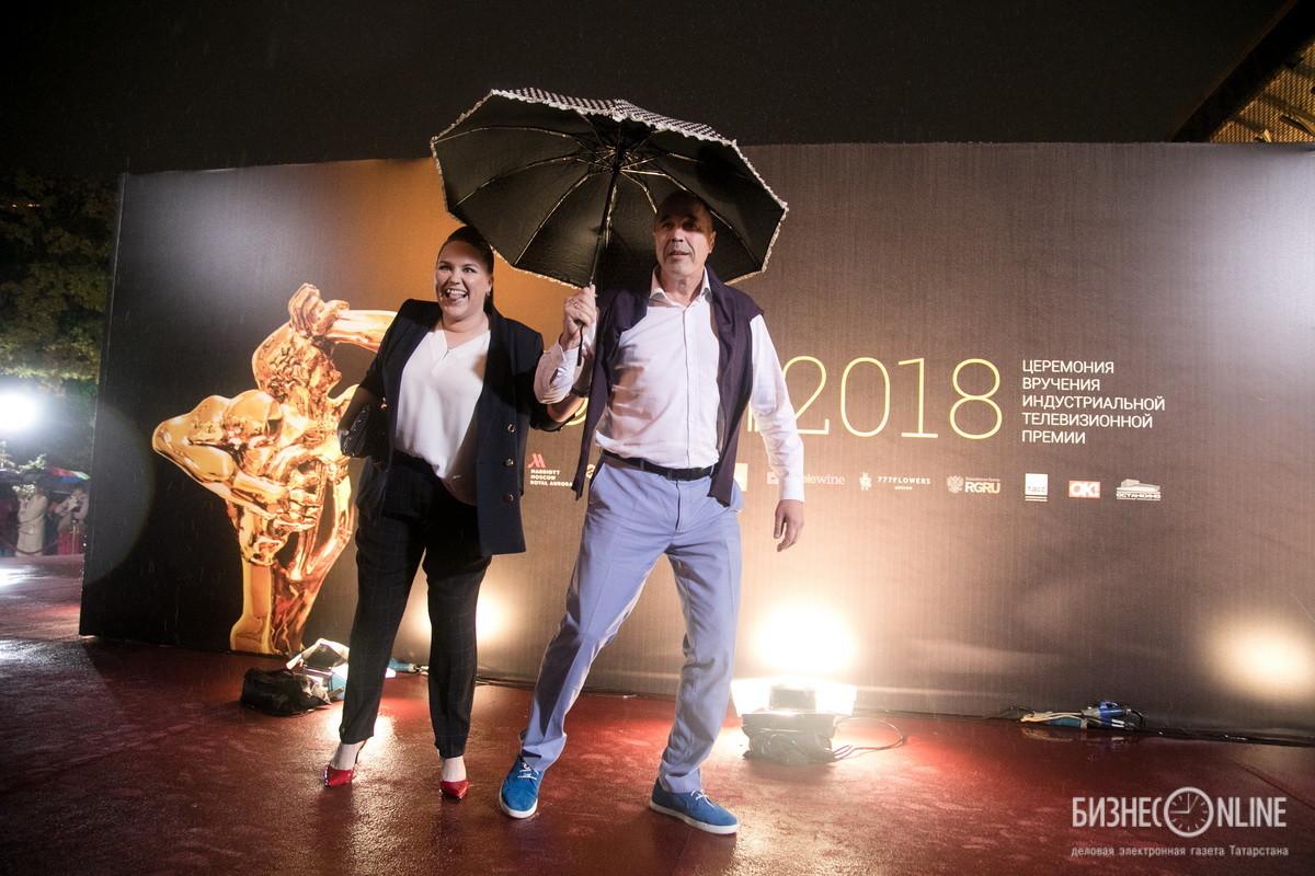 Актер Дмитрий Соколов и шеф-редактор телеканала «КВН ТВ» Ксения Корнева