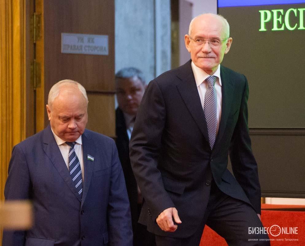 Рустэм Хамитов (справа) - экс-президент Республики Башкортостан