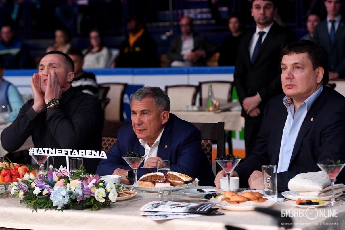 Денис Лебедев, Рустам Минниханов и Андрей Святов