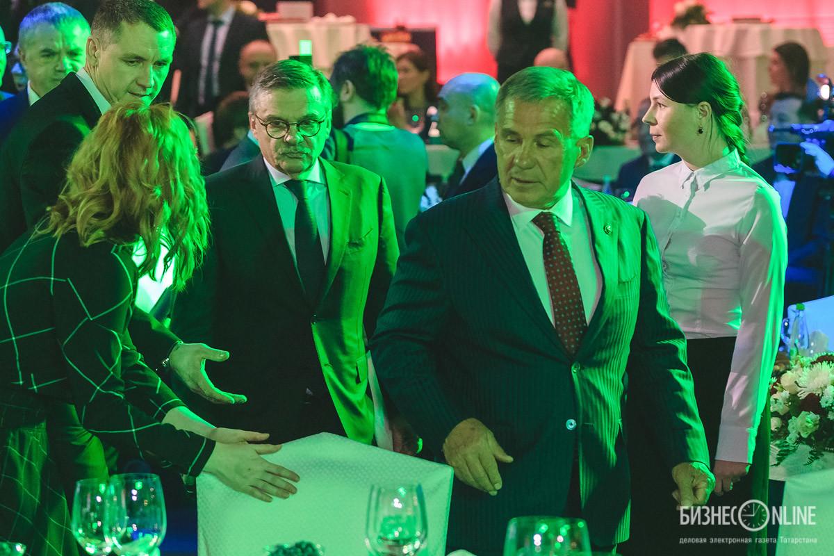 Рене Фазель и Рустам Минниханов