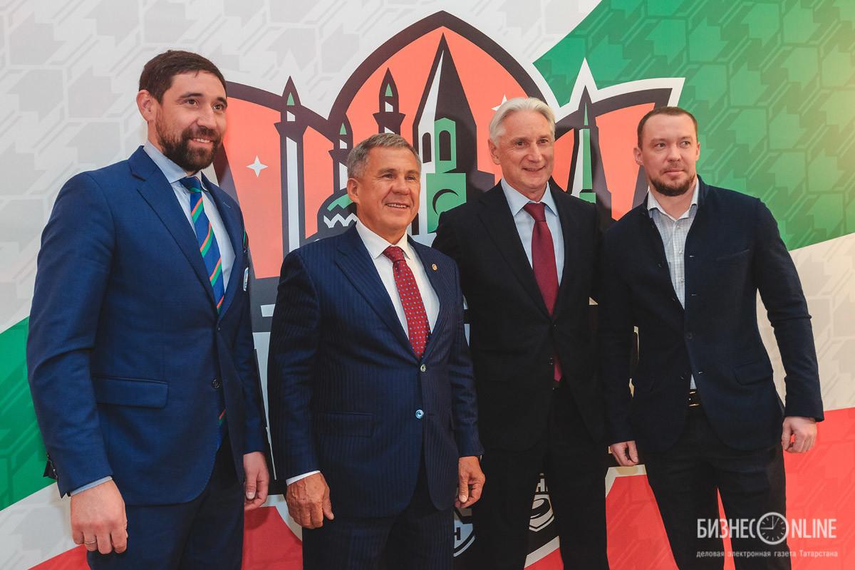 Данис Зарипов, Рустам Минниханов, Зинэтула Билялетдинов, Сергей Мозякин