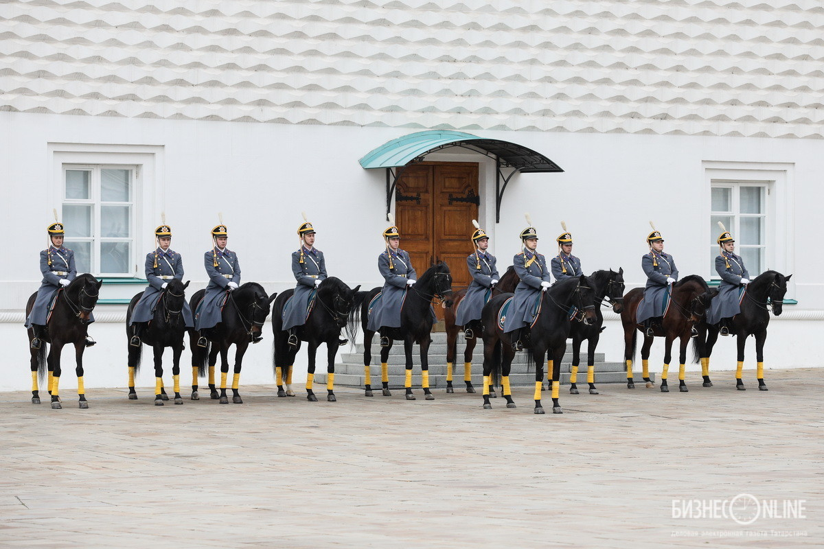 В церемонии принимают участие подразделения ФСО России