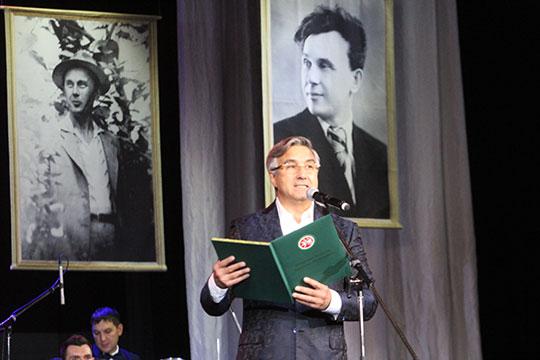 Шайхразиев назвал Вагапова одним из величайших деятелей и зачитал приветствие Минтимера Шаймиева