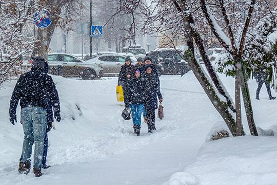 «Форшмак полный»: на Татарстан обрушился невиданный даже зимой буран