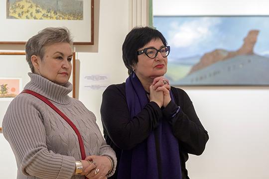 Идея устроить выставку Миннекаева вКазани принадлежит президенту фонда МарджаниРустему Сулеймановуидиректору ГМИИ РТРозалии Нургалеевой (справа)