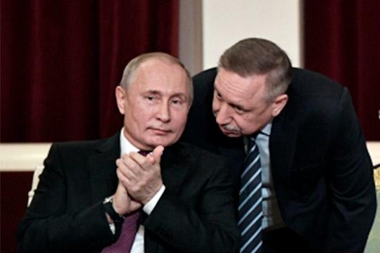 «Президент действительно одобрил начало проектирования такой линии, это была инициатива Беглова (справа)совместно сРЖД»,— цитируетДмитрия ПесковаТАСС