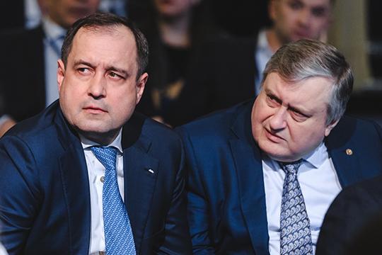Отдельного внимания заслуживают результаты работы финансистов Зуфара Гараева (слева) сценными бумагами, «имеющимися вналичии для продажи»