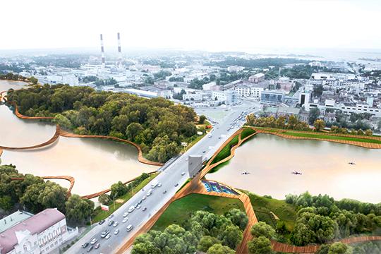 Одна из ключевых идей одна из ключевых идей концепции исторического центра Казани— создание огромного парка вокруг системы озер Кабан