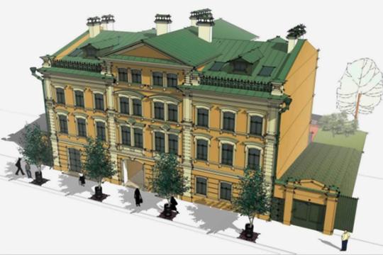 «Общежитие» в 4 этажа с подземным паркингом— так представлен объект на ул. Парижской Коммуны, 16, по соседству с музеем чак-чака. Очевидно, что настоящим назначением объекта станут апартаменты или гостиница