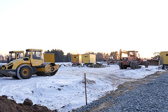 Строительство подъездных путей к площадке, где должен в будущем располагаться МСЗ, началось еще в конце прошлой недели