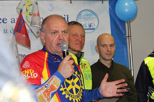Президент всемирного содружества ротарианцев-велосипедистов Жан Люк Бергег (Jean-Luc Berger) из Франции