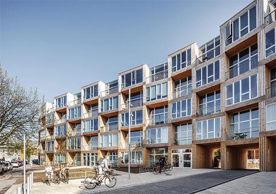 Многоквартирный дом на улице Дортеавей в Копенгагене.