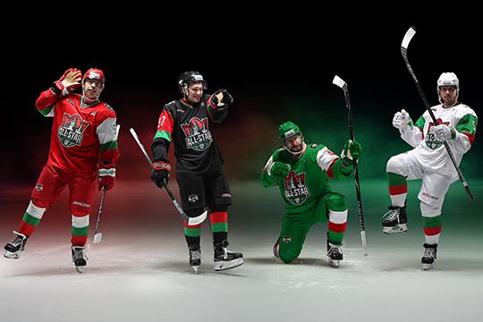 Кказанскому хоккейному шоуКХЛ разработала уникальную форму сиспользованием цветов государственного флага Татарстана. Черный — цвет нефти