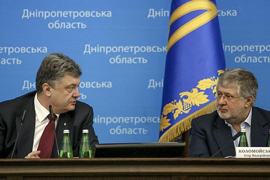 «В данной ситуации не понятно, кто большее зло для Украины — Коломойский (справа) или Порошенко (слев). Два сапога — пара»