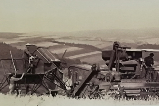 Комбайн С-4 в поле