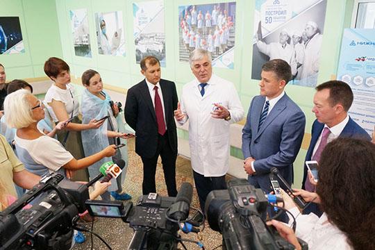 Во время пресс-подхода Шигабутдинов заявил, что ТАИФ — передовик, потому и решил действовать, едва услышав о нацпроекте, посвященном здоровью