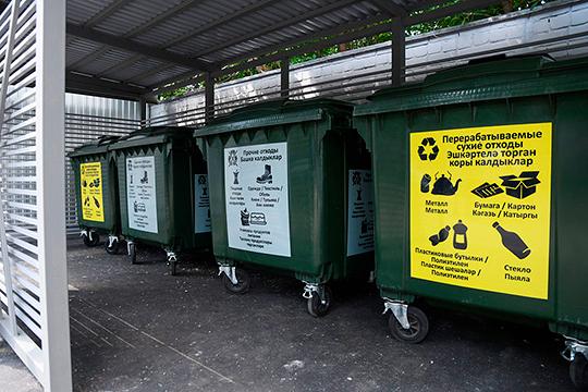 На сегодня в 80% домов, за исключением некоторых ТСЖ и управляющих компаний, а также некоторых домов, оснащенных мусоропроводами, установлены контейнеры для раздельного накопления ТКО