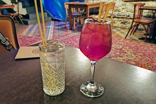 Безалкогольный коктейль с мандариновым сиропом без названия