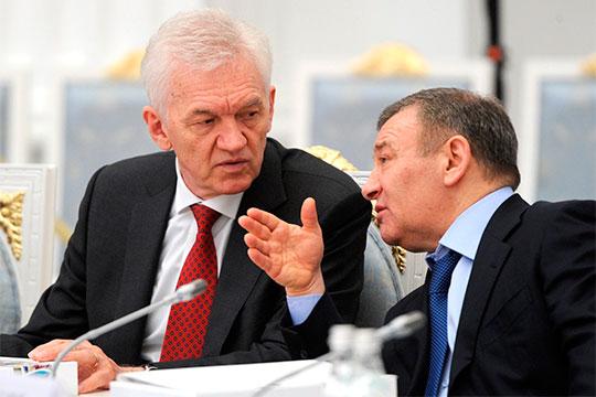 Фигуру президента КХЛ нельзя считать независимой — все важные решения принимаются высшим руководством — Тимченко (слева), Борисом и Аркадием (справа) Ротенбергами