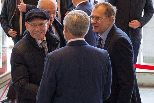 По информации «БИЗНЕС Online», вице-премьерский пост Гурьева может занятьЕвгений Маврин (справа), который пока сохраняет пост руководителя администрации главы Башкортостана
