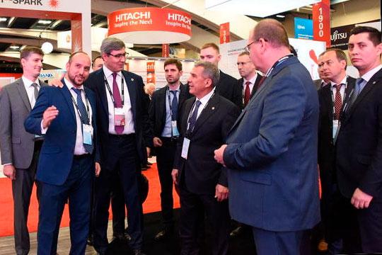 Настоящий информационный рай был в Калифорнии для министра Шайхутдинова. Так, он вместе с президентом посетил Oracle OpenWorld