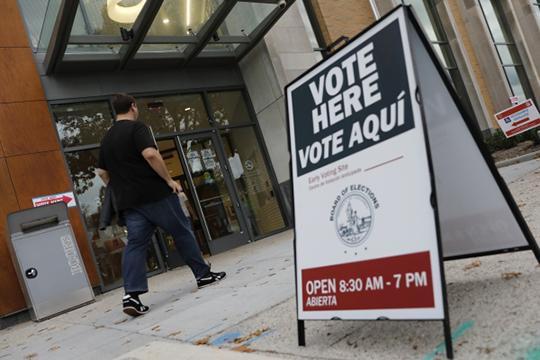 ВСША проходят промежуточные выборы вКонгресс, которые определят политическую расстановку сил встране