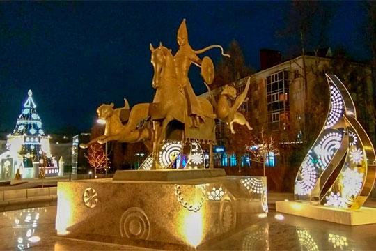Вэтом году вАльметьевске будут функционировать три площадки, которые полностью украшает ПАО «Татнефть»— сквер Яшьлек, сквер «Каракуз» итерриторию Теннис-сити.