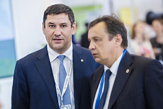 выплаты основному управленческому персоналу— 20 человек воглаве спредправленияРобертом Галиевым (слева)— выросли на3,3% до167,8млн