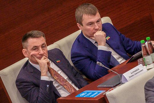На заседаниях Госсовета Махеева (справа) однозначно затмевает его партнер Леонид Барышев (слева)