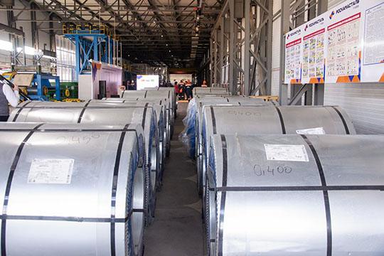 В промпарке «Пионер»торжественно запустили конвейер первого нижнекамского резидента— компании «Камасталь» поокрашиванию рулонной стали скитайским капиталом