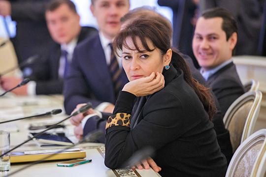 Доход единственной дамы свице-премьерскими полномочиямиЛейлы Фазлеевойзаметно сократился— с10,5млн до4,8млн рублей