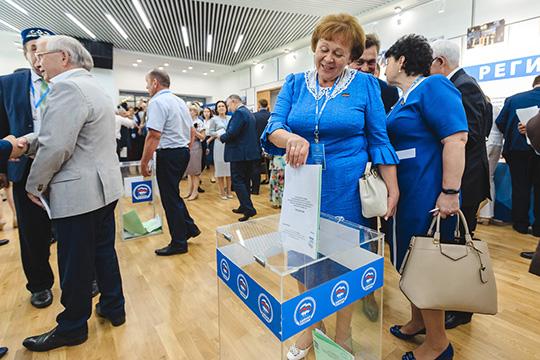 Делегатам путем тайного голосования предстояло утвердить два списка кандидатов отпартии: единый республиканский ипоодномандатным округам