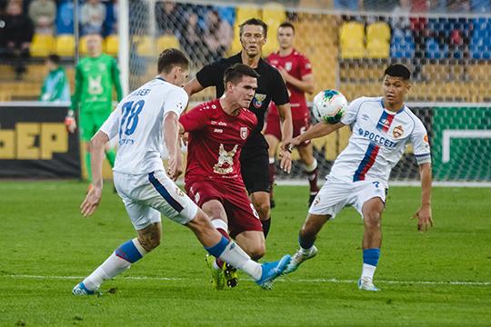 «Рубин» провёл очень равный матч с ЦСКА, который отрезками выглядел более классной командой