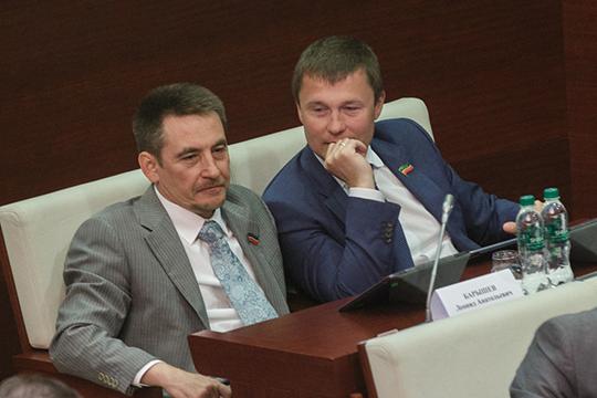 Главной проблемой для уже экс-главы Елабуги Геннадия Емельянова годами оставалась конфронтация с группой «Эссен Продакшн АГ» Леонида Барышева (слева) и Вадима Махеева (справа)