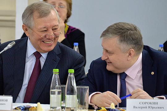 Поменялись местами Альберт Шигабутдинов (слева) и Валерий Сорокин (справа). Экс-глава ТАИФа опустился лишь на одну строчку, так как эксперты считают, что и в роли советника гендиректора он сохранит большое влияние на политику компании