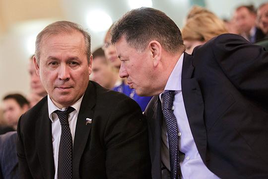Ринат Хайров (слева) отнесен к двум группам интересов: минобороны и ГК Ростех. Иршат Минкин (справа) — один из самых «незаметных» депутатов Госдумы от Татарстана