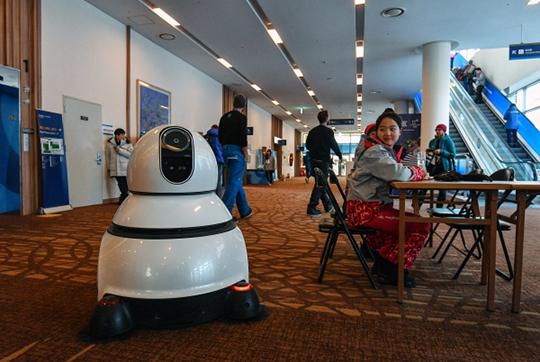 «Академик Аганбегян приводит впример ситуацию вКорее, где наблюдается самый высокий процент роботизации, нобезработица при этом невыросла».На фоторобот-пылесос в международном пресс-центре (МПЦ) в Пхенчхане