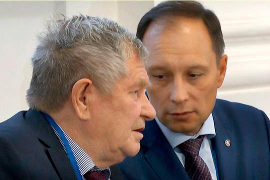 Ректор КНИТУ-КХТИ Сергей Юшко (справа) тоже считает, что «Татнефтехиминвест-холдинг» как структура, объединяющая крупные предприятия республики, выигрышно смотрится в конструкции НОЦ