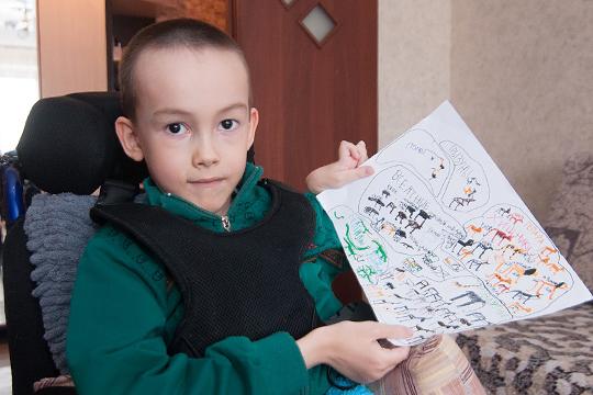У семилетнего Данила Васильева из Набережных Челнов спинальная мышечная атрофия второго типа.