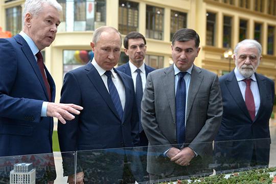 В компании мэра столица Сергея Собянина глава государства за два дня до официального открытия лично проверил готовность объекта